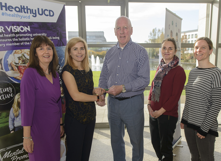 Image of the winning team from the Healthy UCD Challenge