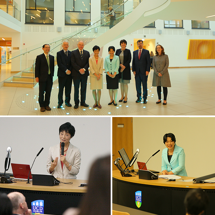 Image of speaker at recent Japanese Women in Leadership in Science and Society.