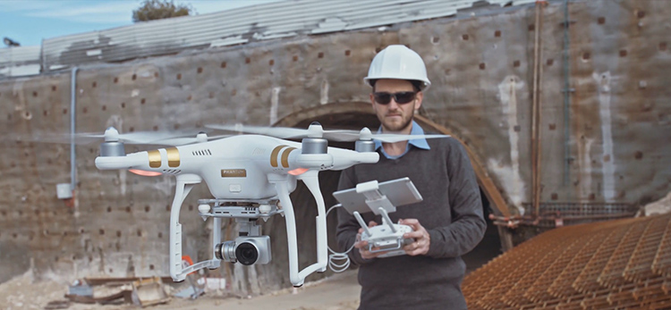 A ucd student using drone technology as part of the msc in geospatial data analysis