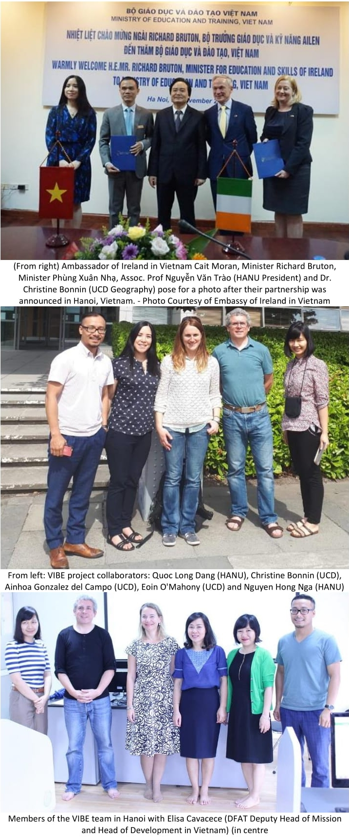 Collaboration between UCD and University of Hanoi