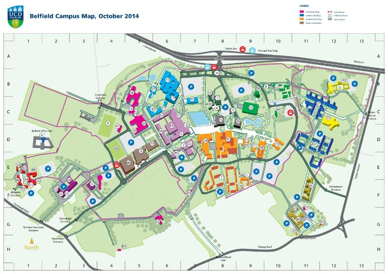 Ucd Campus Map Global Irish Diaspora Congress