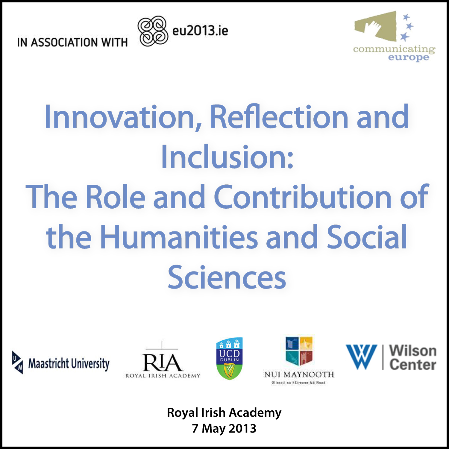 The Role and Contribution of the Humanities and Social Sciences Conference Podcast