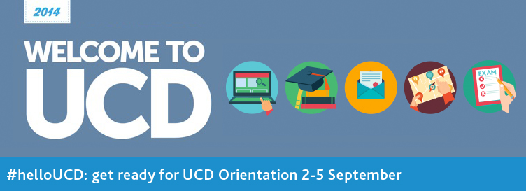 Incoming first year students: get ready for UCD Orientation 2-5 September