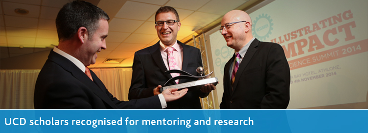 UCD scholars recognised for mentoring and research