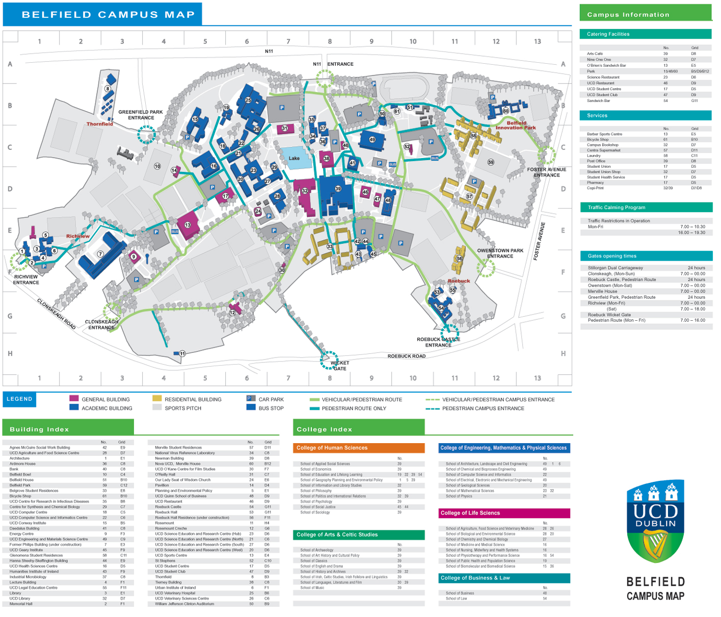 Ucd Campus Map MacIntyre Conference UCD