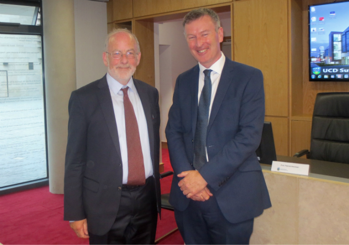 Professor Gavin Barrett, Jean Monnet Chair in European Constitutional and Economic Law and Professor Patrick Honohan, former Head of the Central Bank of Ireland.