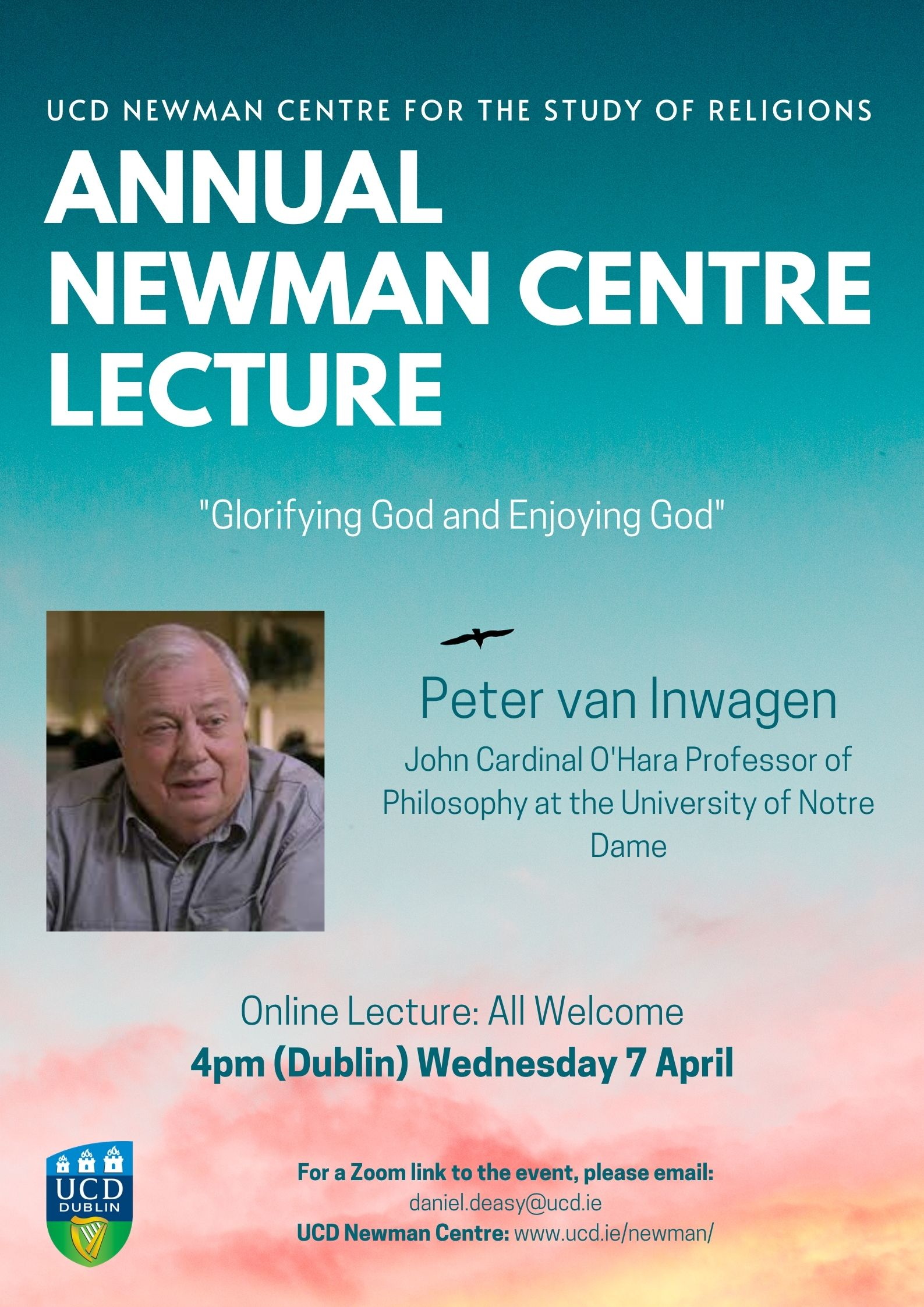 Newman Centre Annual Lecture: Peter van Inwagen