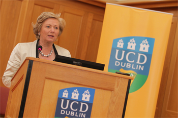 Pictured: The Minister for Children and Youth Affairs, Ms Frances Fitzgerald TD