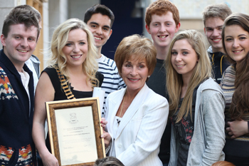 Judge Judy Honoured By University College Dublin Law Society