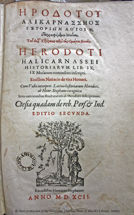 the life and times of the first greek historian herodotus Herodotus, a greek historian,  black people according to herodotus  and later observed commonalities with the greek language his first volume with published.