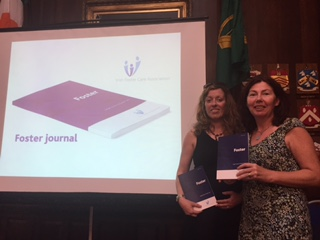 Dr Valerie O'Brien and Angela Palmer at the launch of 'Foster Journal'