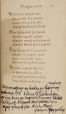 UCD Special Collections manuscript 2