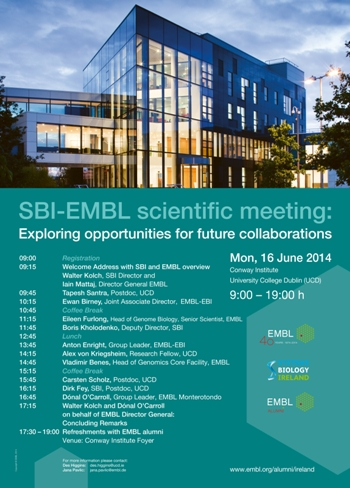 SBI/EMBL Scientific Meeting | Exploring Future Collaborative Opportunities