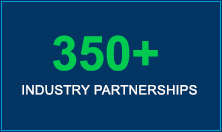 350+ Industry Partnerships