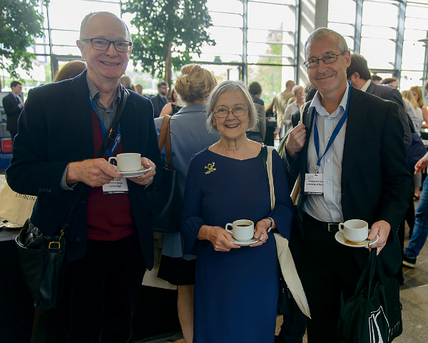 Baroness Hale of Richmond with Professor Peter Cane of Cambridge (left) and Professor Andrew Burrows of Oxford