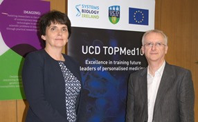 Pictured l-r: Professor Orla Feely, UCD Vice President of Research, Innovation & Impact and Professor Walter Kolch, Director, UCD Conway Institute & Systems Biology Ireland.?