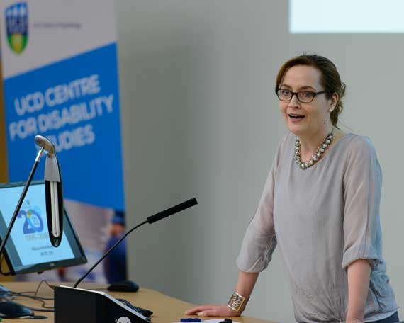 Director of the UCD Centre for Disability Studies, Dr Christine Linehan