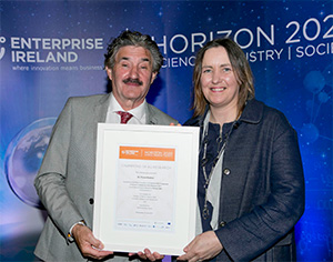 John Halligan TD, Minister of State for Training, Skills, Innovation, Research and Development and Dr Fiona Doohan, UCD School of Biology and Environmental Science.