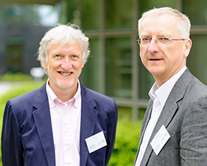 Professor Iain Mattaj, Director General of the European Molecular Biology Laboratory; Professor Walter Kolch, Director, Systems Biology Ireland