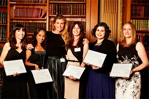 Pictured (l-r): Dr Paola Crippa, University of Newcastle; Dr Aarti Jagannath, University of Oxford; Amandine Ohayon, Managing Director, L'Oréal Luxe UK & Ireland; Dr Tríona Ní Chonghaile, University College Dublin; Dr Rita Tojeiro, University of St Andrews; Dr Joanne Durgan, Babraham Institute, Cambridge. (Credit: L'Oréal UK & I 2015)