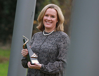 UCD researcher Dr Emmeline Hill, co-founder of Equinome, who was presented with the 2014 NovaUCD Innovation Award.