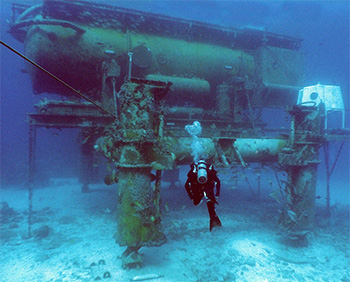 The Aquarius Undersea Reef Base off the coast of Florida. Credit: NOAA.