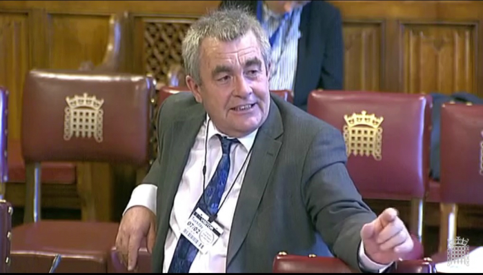 Professor Joseph McMahon at the House of Lords
