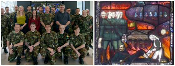 160921 - Students of UCD Diploma in Military Medical Care at the Kevin Barry Window