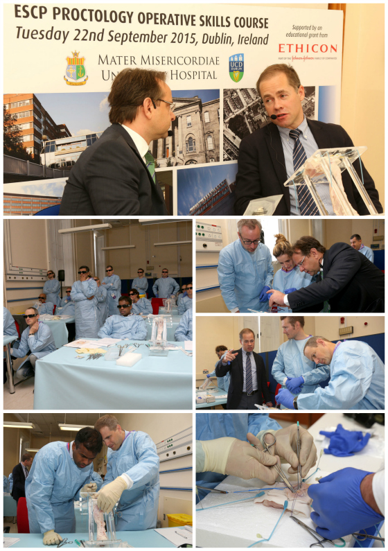 Collage - ESCP Proctology Surgical Skills Training - 560 x 795