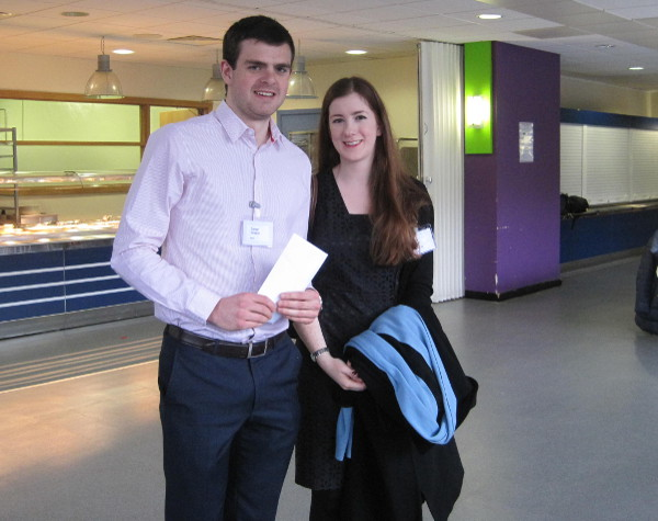 Conor Geraghty with Kate McEvoy of Canada Life