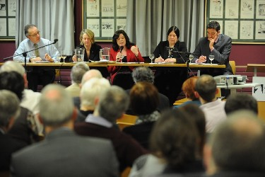 From l-r: Quintin Oliver, Jennifer Todd, Dawn Purvis, Bronagh Hinds and Jim Fitzpatrick