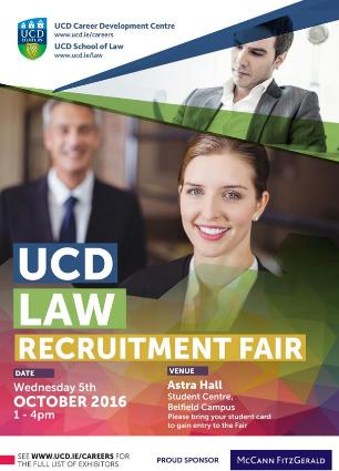 UCD Career Development Centre Law Recruitment Fair
