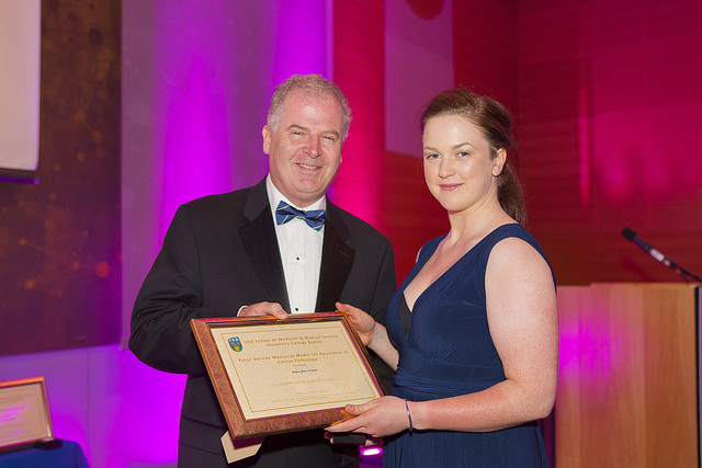 Maeve Jones-O'Connor wins the 2014/2015 Peter Dervan Medal for Excellence in Cancer Pathology