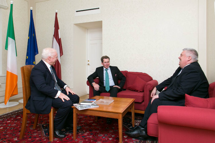 Prof Devenney meets with the Irish Ambassador to Latvia and Prof Mel Kenny in Riga.