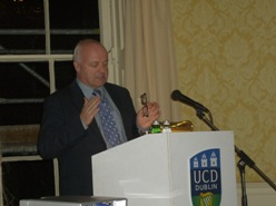Niall Crowley speaking at the Equality seminar