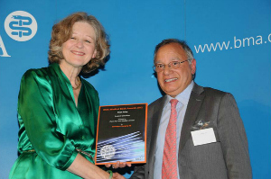 Professor Prem Puri was awarded 1st Prize at the British Medical Association Award Ceremony