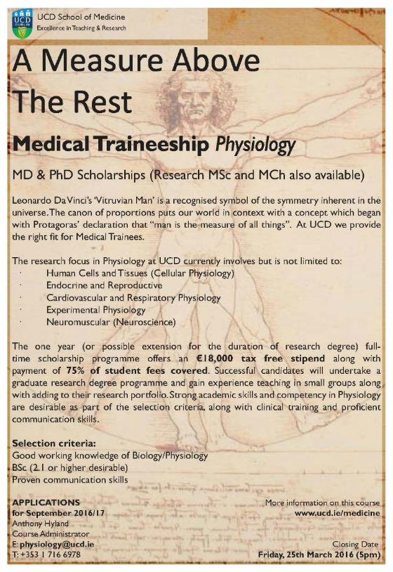 Physiology Medical Traineeships 2016-17 560x814