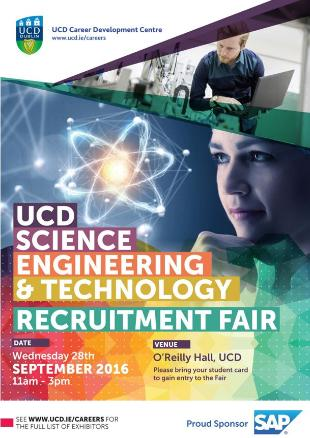 UCD Career Development Centre Science Engineering & Technology Fair
