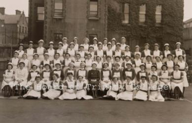 adelaide hospital staff 1946, copywrite The Board of Trinity College Dublin