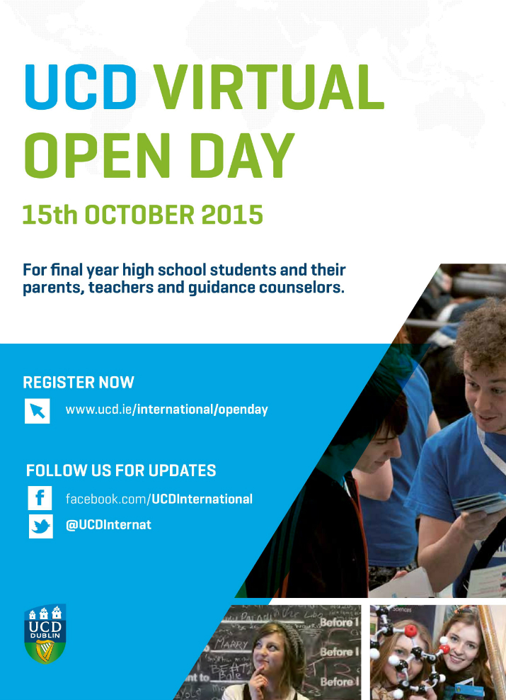 UCD Virtual Open Day Image