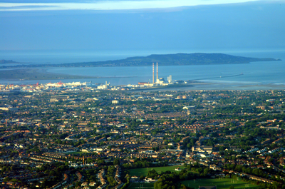 'Dublin at Dusk from Above'. Image by Dr Thomas Kador.