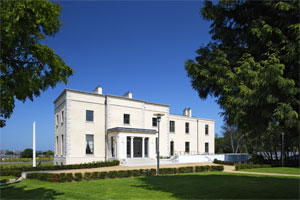 The recently restored Belfield House
