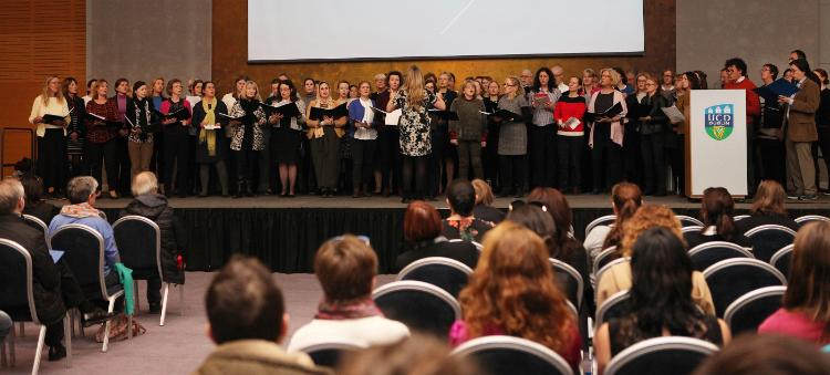 The UCD Community Choir perform at the Engagement Event
