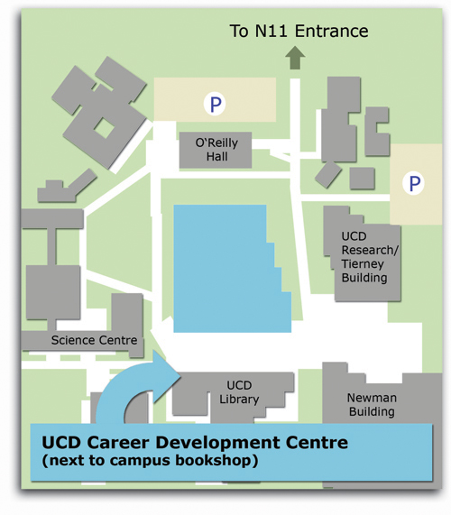 central campus map showing location on CDC