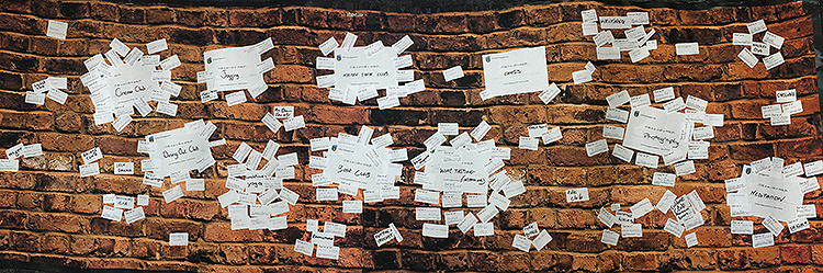 Small image of the engagement event ideas wall