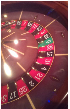 'Playing Social Roulette'. Image by Dr Crystal Fulton.
