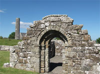 'Portal to the past: St Brigit's doorway, Inis Cealtra (Holy Island), Lough Derg, Co. Clare'. Image by Ms Niamh Wycherley.