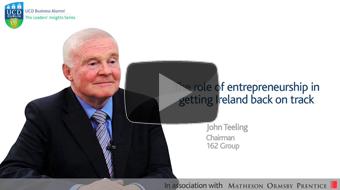 Dr john teeling talk