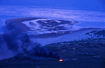 'St John's Eve, Sruwaddacon Bay, Rossport, Co Mayo, 2001'. Image by Ms Noreen Barron.