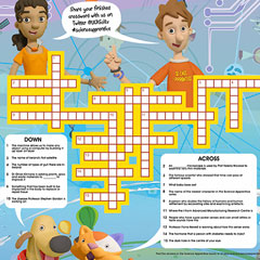 Science Apprentice crossword poster A2 & A3